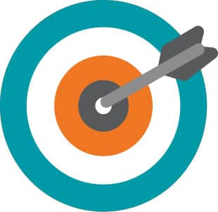 target with an arrow sticking out of the bullseye