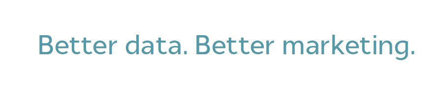 Better Data. Better Marketing.